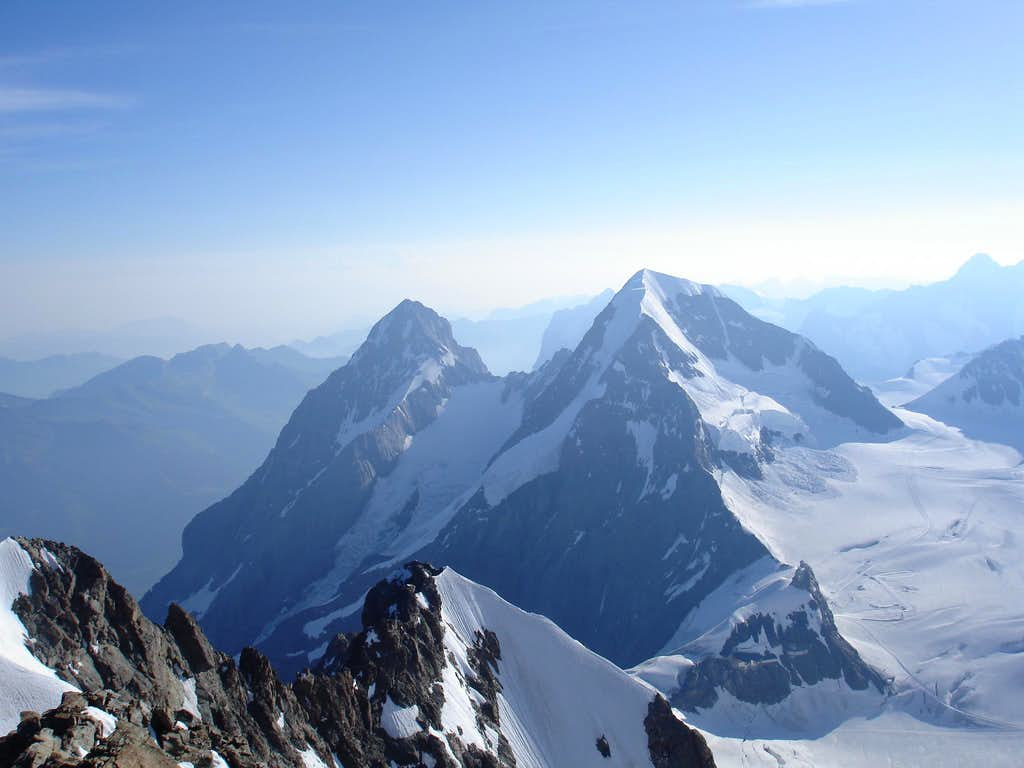 Mönch and Eiger as seen from the Jungfrau Summit
