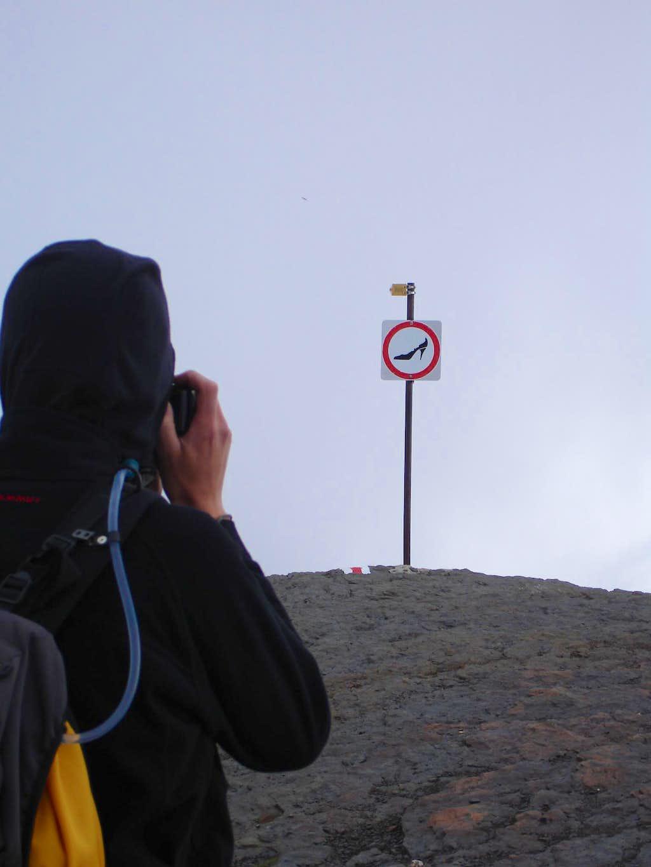 Just beneath the summit...no high heels please.