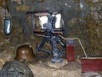 Inside a trench WW1