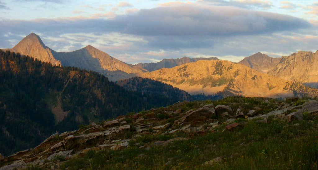 Alpenglow on Alpine Ridge