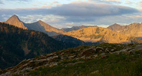 Alpenglow on Alpine Ridge