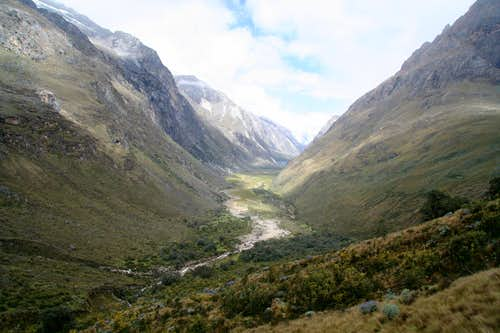 The valley looking south from Punta Union