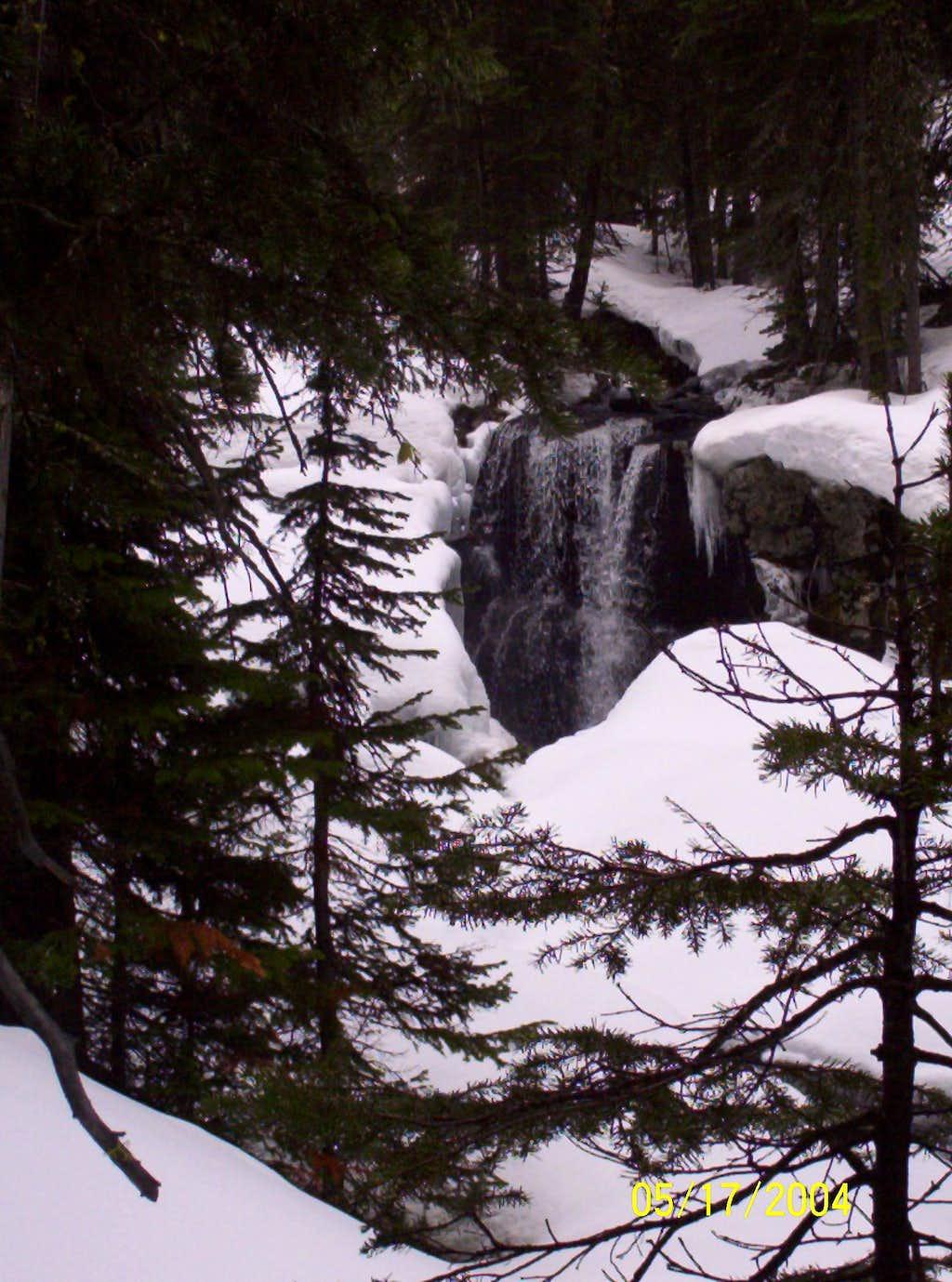 Hyalite Creek waterfall