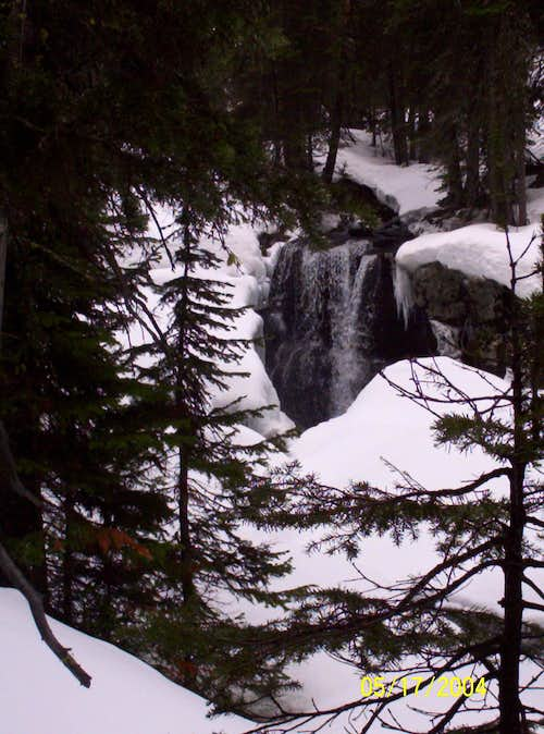 Hyalite Creek waterfall