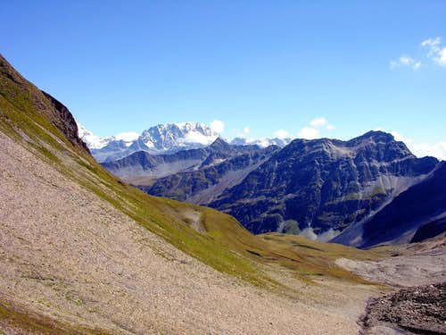 Eastwards view from Col du Ban Darrey 2695m (Val Ferret).