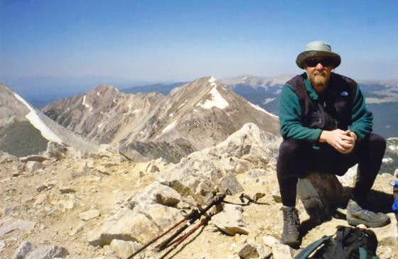 Scott Surgent on the summit...