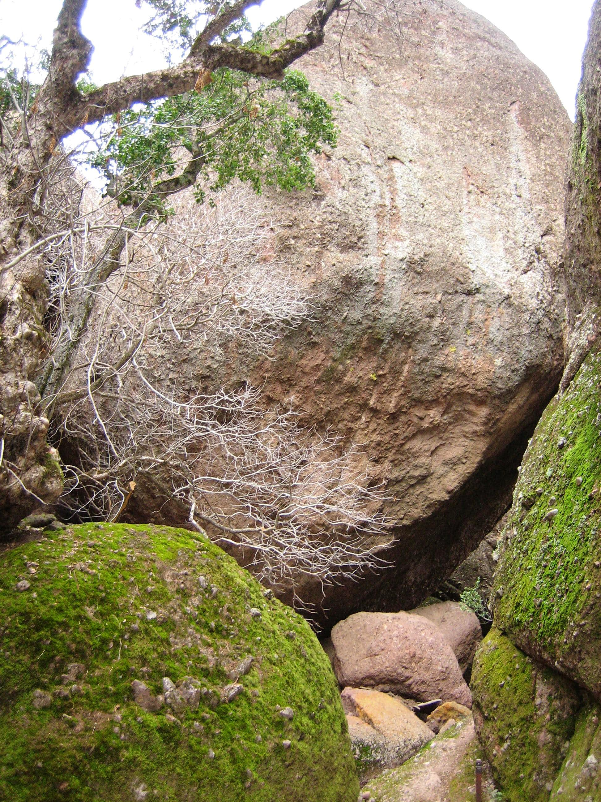 Routes on Chockstone Dome