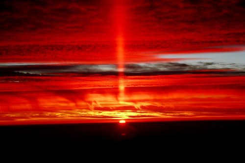 Sun pillar from Camp Nido