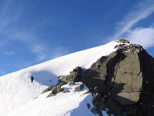 Few meters to the summit of Baranie Rohy