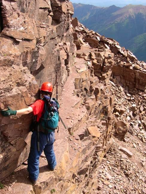 This is me traversing the...