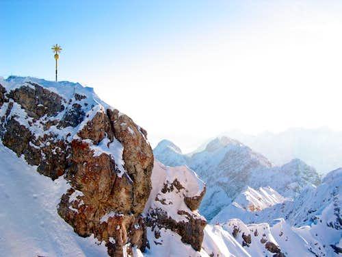 Jubiläumsgrat in Winter: View of the ridge