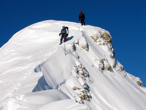 Jubiläumsgrat in Winter: Fairly easy