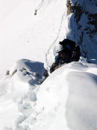 Jubiläumsgrat in Winter: Full body climbing