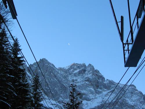 Jubiläumsgrat in Winter: View to the summit