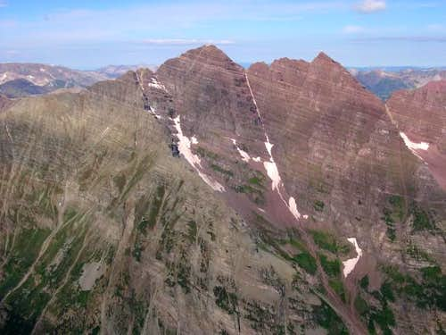 The Maroon Bells from Pyramid...