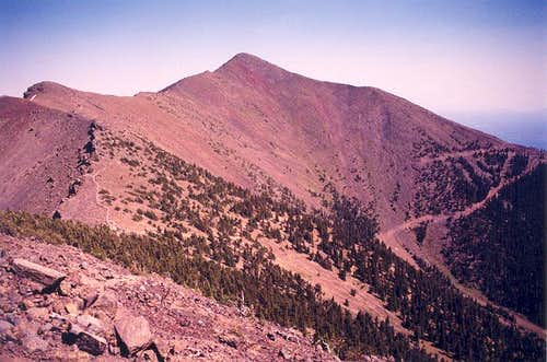 A barren Agassiz Peak from...