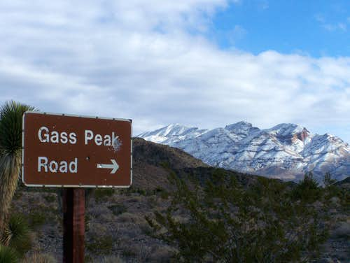 Gass Peak Road and Gass Peak