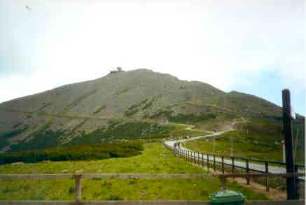 The summit of Snezka seen...