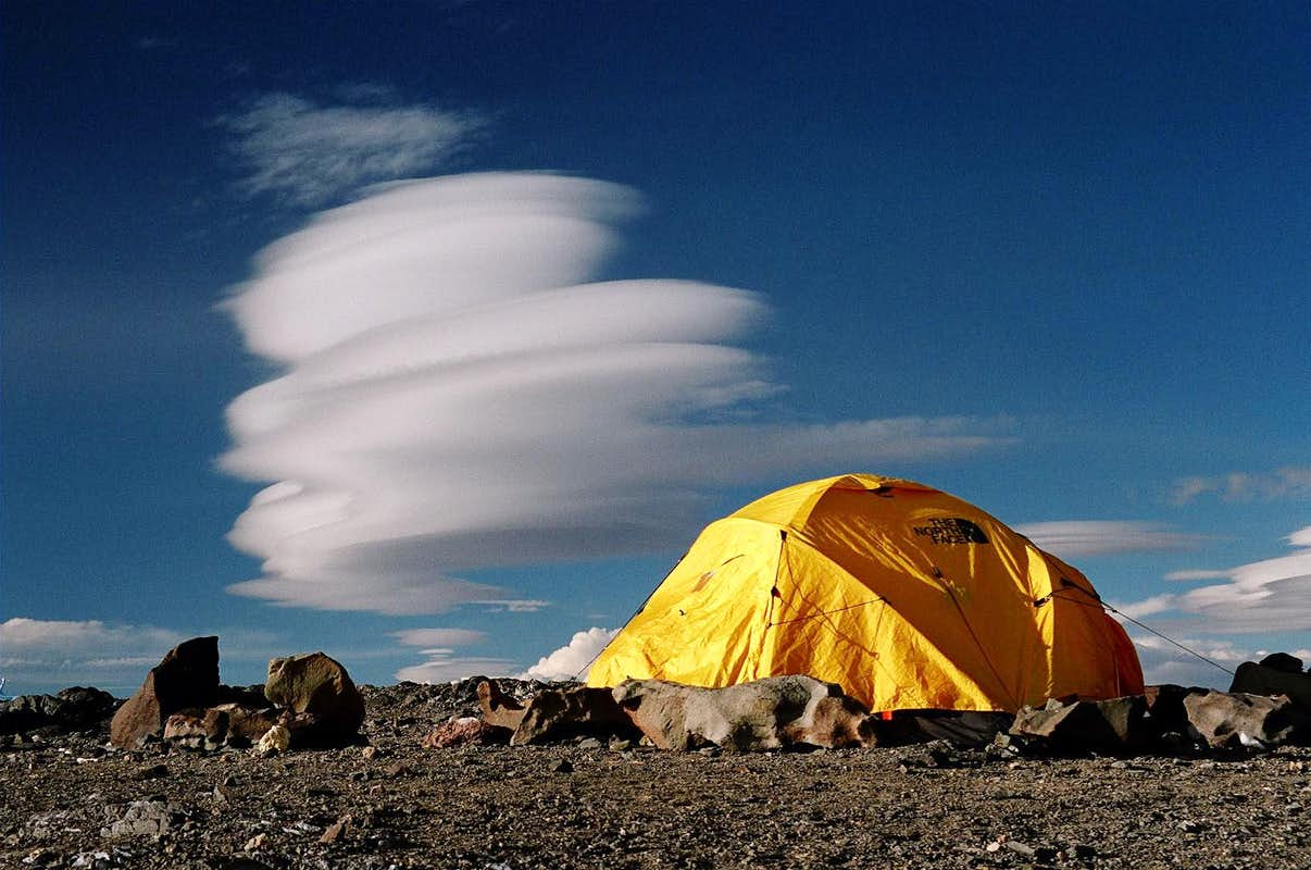 Tent and Cloud