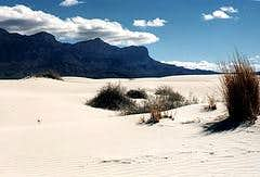 The Guadalupe Range from the Gypsum Dunes