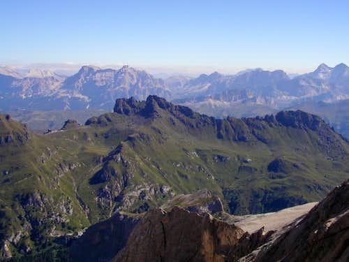 Padon Ridge from Marmolada