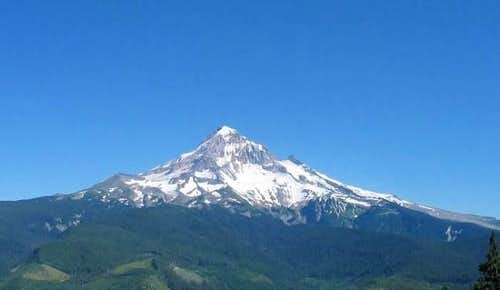 Mt Hood as viewed from the...