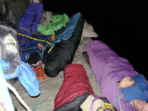 Cramped Bivy on The Block