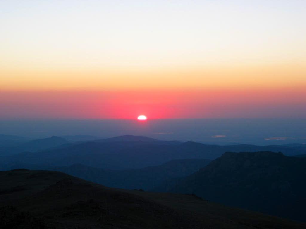 Sun Rise on the Approach
