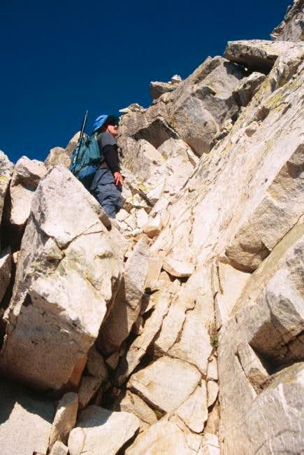 Climbing the south side of...