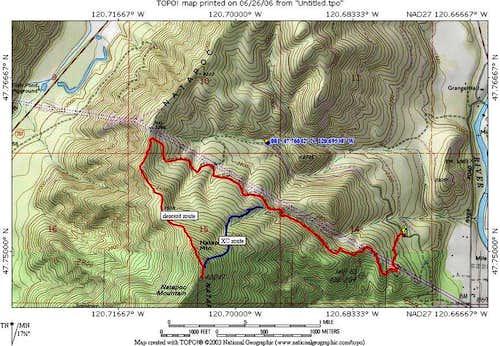 Natapoc Mtn Map