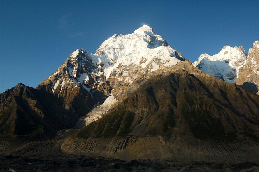 Makrong Chhish shortly after sunrise