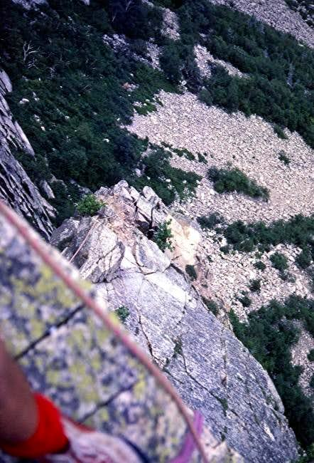 Belay on top of 4th pitch...
