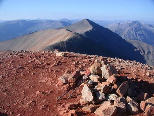 Redcloud's red summit. The...