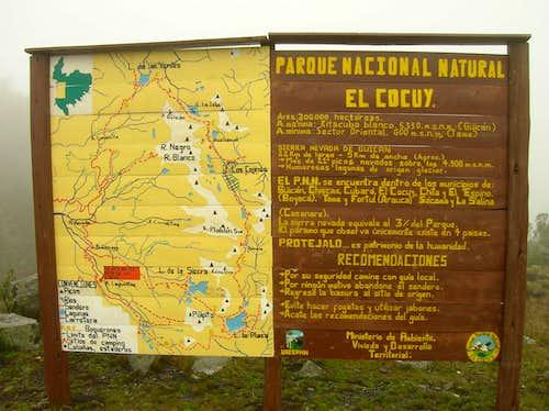 Map PN Cocuy
