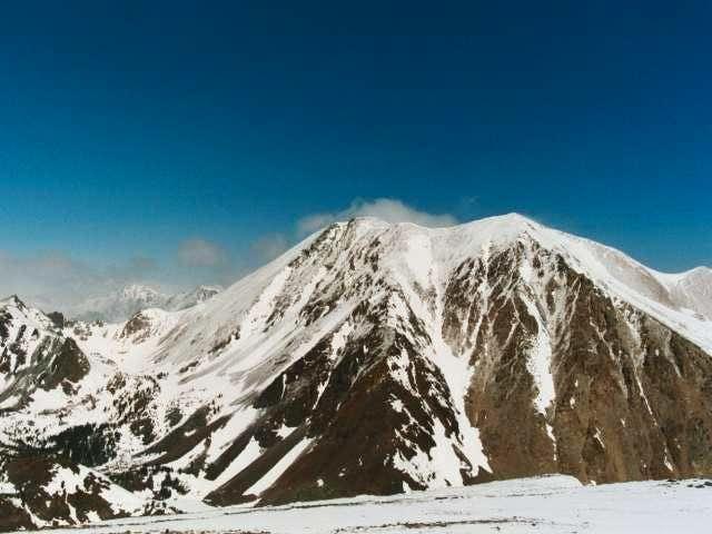 Dunderberg Peak seen from the...