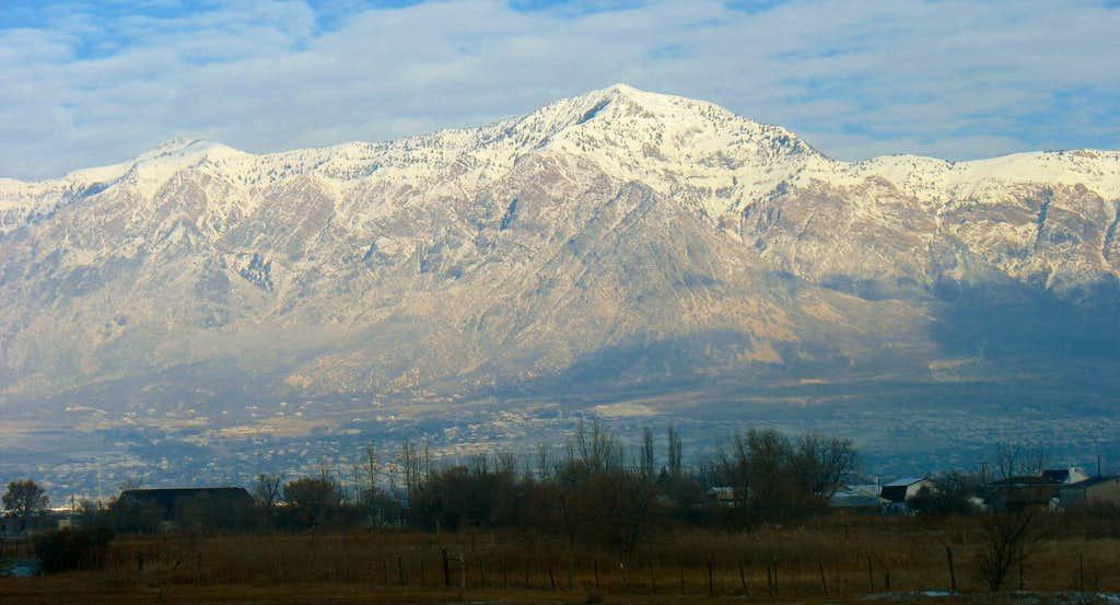 Willard Peak and Ben Lomond Peak from I-15