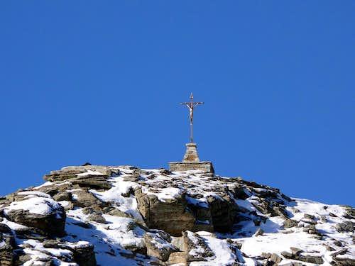 On the summit of Becca di Viou (2857 m)