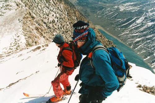 Preparing to drop the steep...