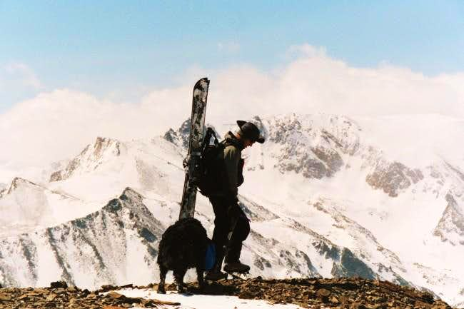 On the summit of South Peak,...