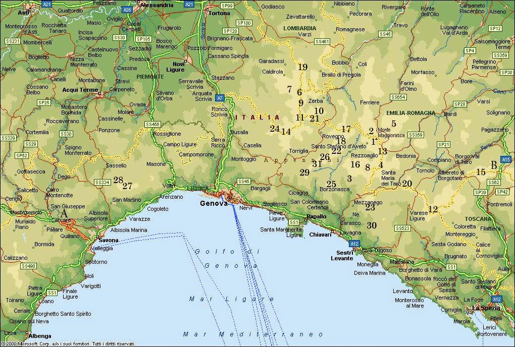 Apennines Mountains Map -#www.lraber.info