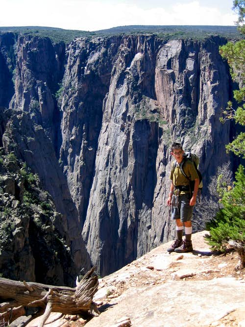 Curtis at Black Canyon of the Gunnison (Original)<BR><font color=