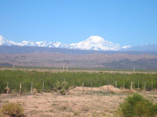 Tupungato from the highway out of Mendoza