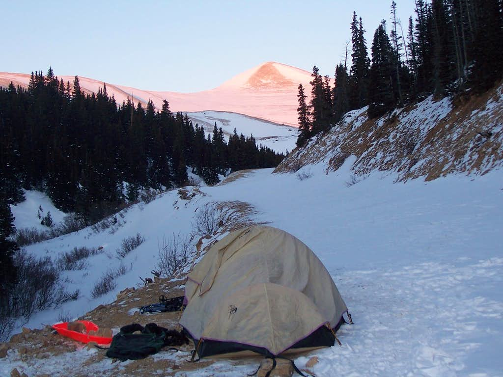 Camp in Fourmile Basin