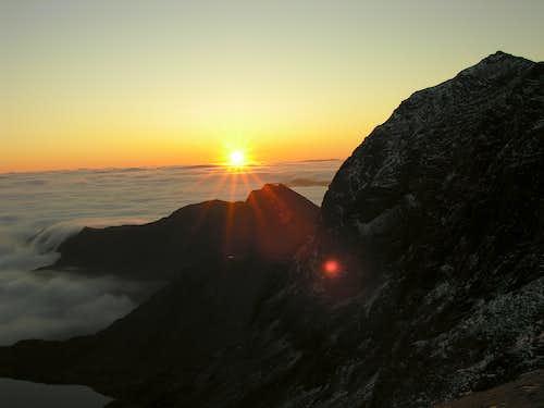 North Face and summit of Yr Wyddfa