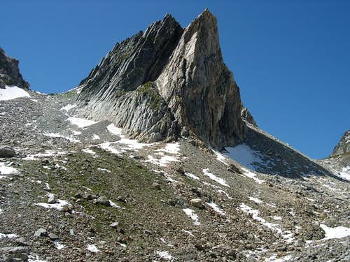 NW summit <i>2726m</i> of the Pyramids Calcaires