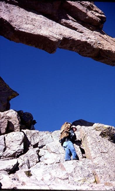 A Colorado Hiker approaches the Keyhole....