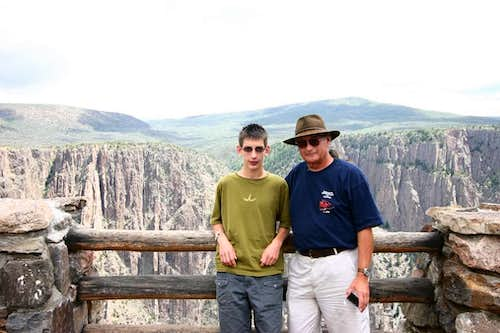 Mark and Curtis at Black Canyon of the Gunnison - Poorly Framed Image<BR><font color=&quot;#FF0000&quot;> PLEASE DON\'T VOTE - SEE CAPTION</font>