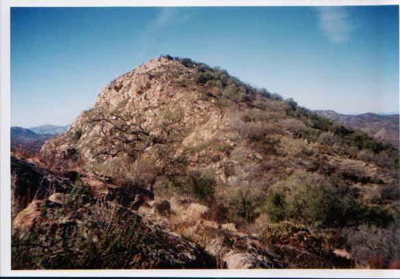 Eagle Peak's summit ridge,...