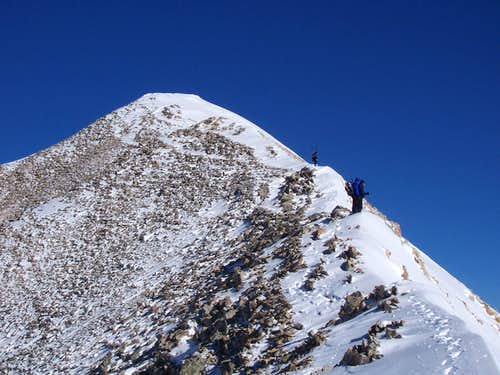 Approaching a false summit