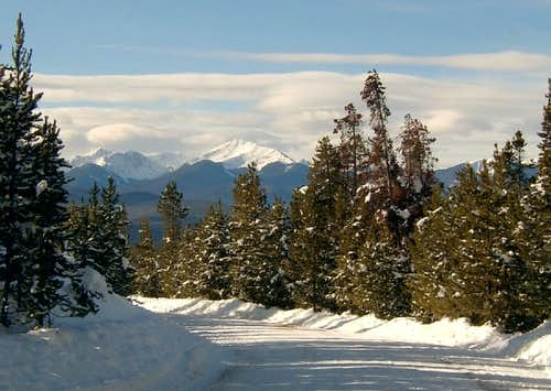 Byer\'s Peak from County Rd 8 in Fraser